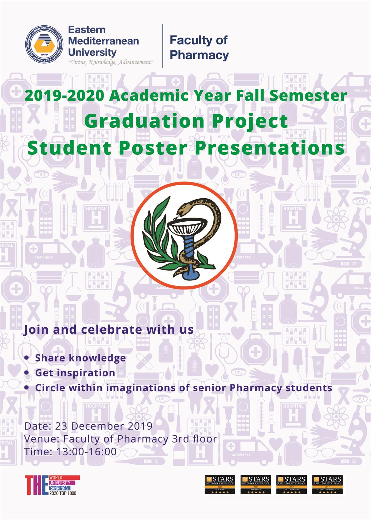 2019 - 2020 FALL SEMESTER Graduation Project - Student Poster Presentations